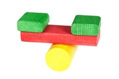 Scale dai particolari di legno del giocattolo Fotografia Stock