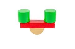 Scale dai particolari di legno del giocattolo Immagini Stock Libere da Diritti