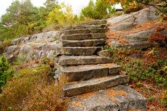 Scale dalle rocce Norvegia Fotografie Stock