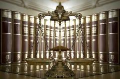Scale decorative di giustizia Fotografie Stock Libere da Diritti