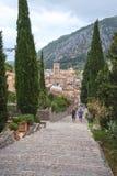 Scale del calvario in Pollensa, Mallorca, Balearic Island, Spagna immagini stock