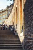 Scale del castello di Praga, repubblica Ceca Immagini Stock