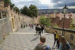 Scale del castello di Praga, repubblica Ceca Fotografia Stock Libera da Diritti
