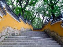 Scale del tempio di Fayu in montagna di Putuo Fotografie Stock Libere da Diritti
