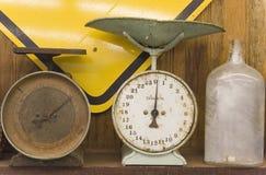 Scale dell'oggetto d'antiquariato Fotografie Stock Libere da Diritti