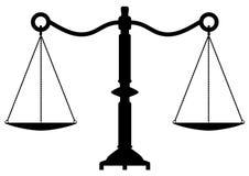 Scale dell'oggetto d'antiquariato di giustizia Fotografia Stock Libera da Diritti