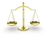 Scale dell'oro Fotografie Stock Libere da Diritti