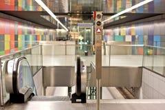 Scale della scala mobile, stazione della metropolitana, Monaco di Baviera Fotografia Stock Libera da Diritti