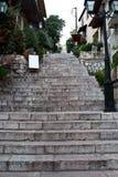 Scale della via di Arachova Immagini Stock