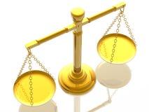 Scale delle giustizie Immagine Stock Libera da Diritti