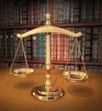 Scale di giustizia Fotografie Stock Libere da Diritti