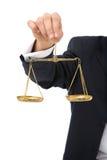 Scale di giustizia Immagini Stock
