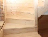 Scale di legno sotto il conctruction Fotografia Stock Libera da Diritti
