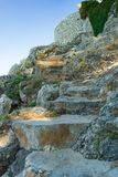 scale di pietra di estate Fotografia Stock Libera da Diritti