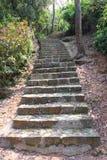 Scale di pietra nel parco di Coloane Immagini Stock