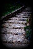 Scale di pietra in parco Immagine Stock Libera da Diritti