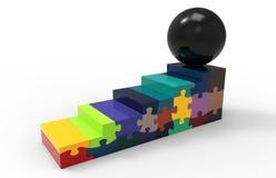Scale di puzzle - concetto della sfera Immagini Stock Libere da Diritti