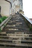 Scale di Rocadour al vecchio centro storico Fotografia Stock Libera da Diritti
