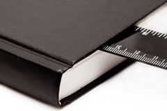 Scale in the diary. Closeup Royalty Free Stock Photography