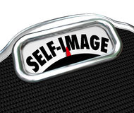 Scale Display Self Image Conscious Lose Weight Royalty Free Stock Image