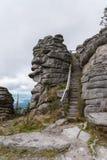Scale a Dreisesselberg - fare un'escursione destinazione Fotografia Stock Libera da Diritti