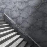 Scale e muro di cemento del granito Fondo moderno di architettura Immagini Stock Libere da Diritti
