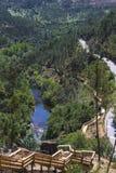 Scale e passaggio pedonale di legno intorno alla montagna Immagini Stock Libere da Diritti