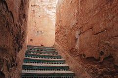 Scale in EL Badi Palace fotografia stock