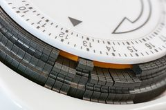 Scale of an electric time swich. Closeup of the scale of an electric time switch Royalty Free Stock Image