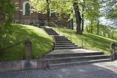 Scale esterne della cattedrale principale della Finlandia Immagini Stock Libere da Diritti