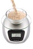 scale för oat för kök för bunkekli digital royaltyfri fotografi