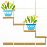 Scale flower pots Royalty Free Stock Image