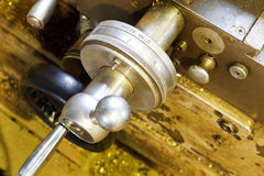 Scale Handle Of Metal Lathe Machine Royalty Free Stock Images