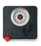The scale with  heart Stock Photo