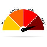 Scale icon expert color Stock Photography