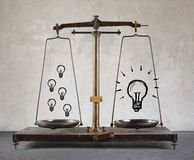 Scale with ideas Royalty Free Stock Photography