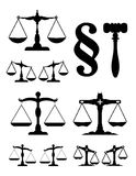 The scale of justice. Black scale on the white background Stock Image