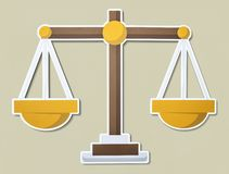 Scale of justice illustration icon royalty free stock photo