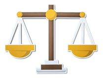 Scale of justice illustration icon royalty free illustration