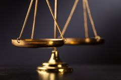Scale of justice. Justice balance courtroom law antique authority stock images