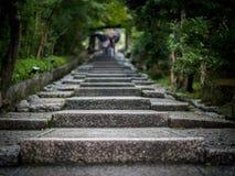 Scale a Kyoto nella pioggia Fotografia Stock