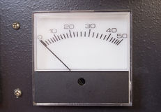 Scale, meter or gage. An old scale or gage with needle to indicate measurement royalty free stock photography