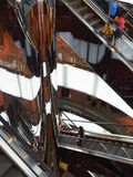 Scale mobili, centro commerciale raffinato Immagine Stock