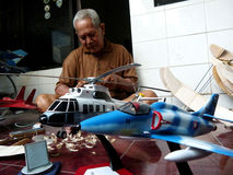 Scale model aircraft Royalty Free Stock Photo