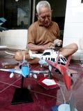 Scale model aircraft Stock Photos