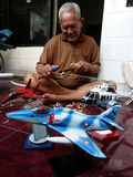 Scale model aircraft Stock Photo