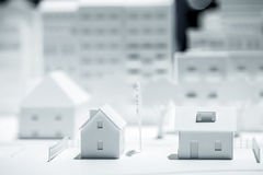 Scale Model Building. Creation photo Royalty Free Stock Photography