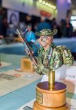 Scale model bust of American soldier from Vietnam royalty free stock photos