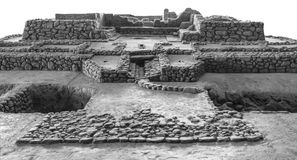 Scale model of Cancho Roano archaeological site, Spain. Zalamea de la Serena, Spain - April 28th, 2018: Scale model of Cancho Roano archaeological site, Zalamea Royalty Free Stock Photography