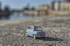 Scale model of the classic Fiat 500. View of a scale model of the classic Fiat 500 Royalty Free Stock Image